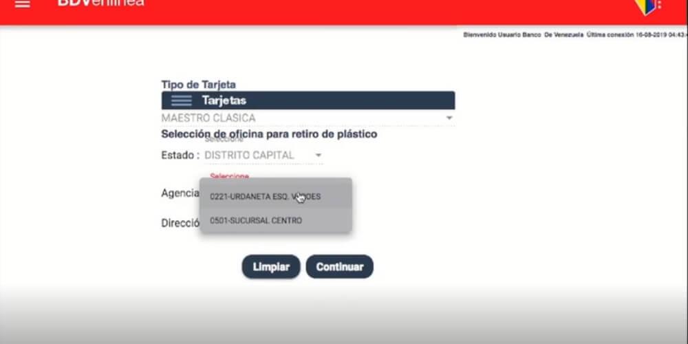 pasos-para-recuperar-tarjeta-de-debido-banco-de-venezuela-seleccionar-estado-agencia-movidatuy.com