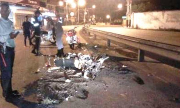 5 personas lesionadas dejo un choque de dos motos en Ocumare del Tuy