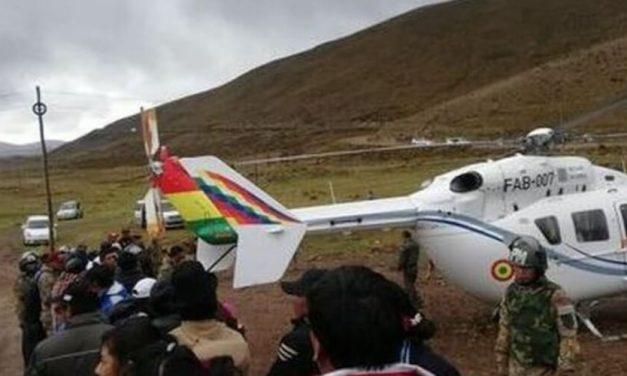 🔥 Evo Morales: salió ileso tras falla de helicóptero donde se trasladaba 🔥