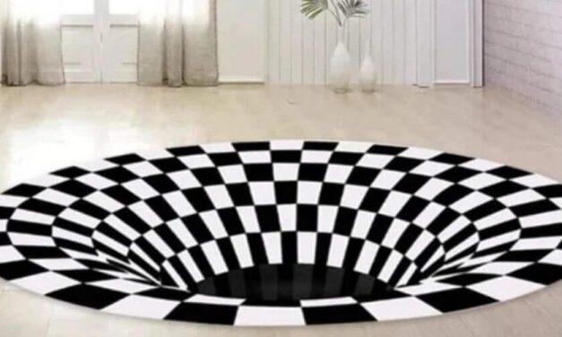 ✌ Esta futurista alfombra en 3D hará que tu sala se destaque ✌