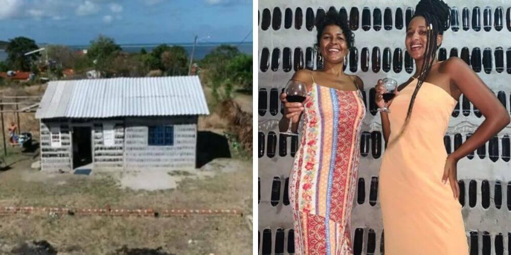 dos-mujeres-construyeron-una-casa-a-base-de-botellas-de-vidrio-madre-e-hija-edna-gabrielly-movidatuy.com