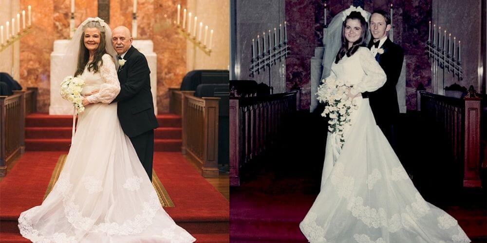 pareja-con-50-años-de-casados-revive-el-dia-de-su-boda-con-fotografias-matrimonio-feliz-kelly-y-carolyn-movidatuy.com