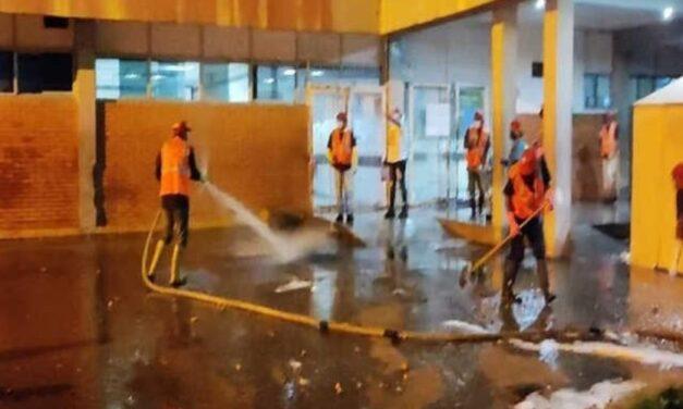 ✅ Realizan limpieza al hospital centinela de los Valles del Tuy ✅
