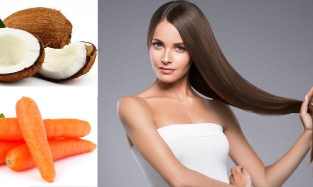 ✅ Receta casera de coco y zanahoria para el rápido crecimiento de tu cabello ✅
