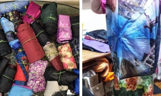 ✌️ Estas voluntarias reciclan paraguas viejos convirtiéndolos en refugios impermeables ✌️