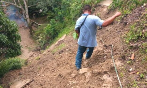 Más de 50 familias quedaron incomunicadas en Santa Lucía-Mariche