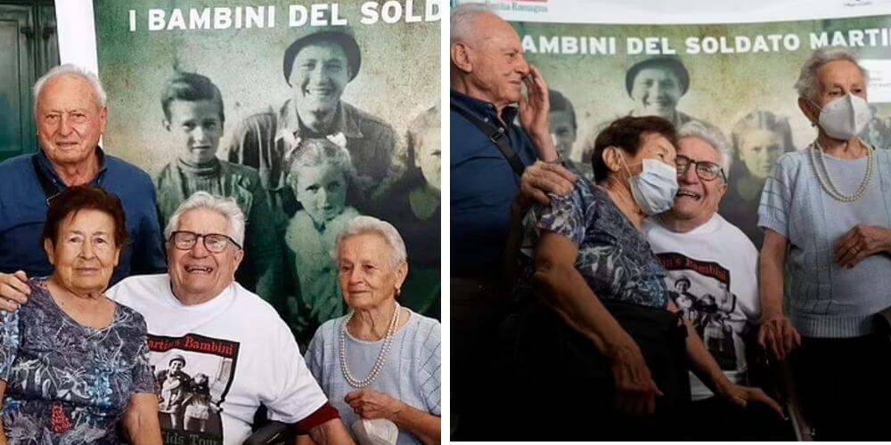 hermosa-reunion-entre-el-veterano-de-la-II-guerra-mundial-con-los-tres-niños-italianos-que-salvo-adler-reencuentro-movidatuy.com