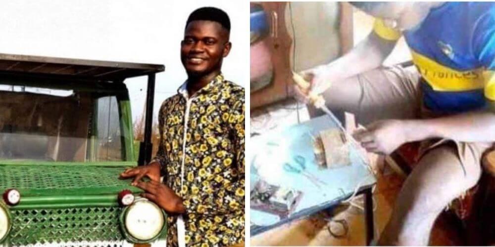 joven-africano-fabrico-un-coche-solar-con-bambu-y-chatarras-estudiante-emmanuel-movidatuy.com