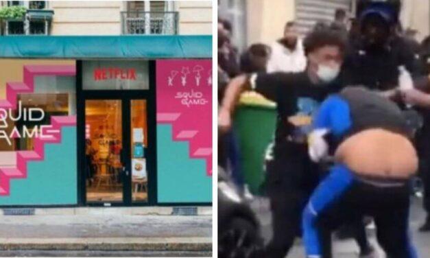 😮 Inauguran cafetería de El Juego del Calamar en Francia y termina en pelea 😮